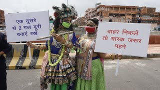 Nirbhaya Squad launches Covid awareness campaign on Janmashtami in Jaipur