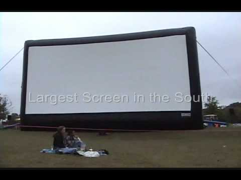 Largest outdoor inflatable movie screen in the South