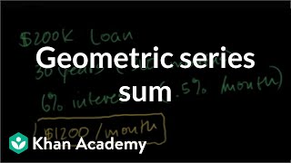 Geometric series sum to figure out mortgage payments