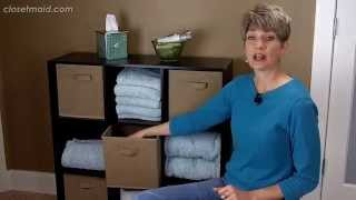 Linen Closet Tips For More Bathroom Storage | Clutter Video Tip
