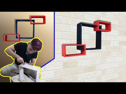 Cara mudah membuat rak dinding minimalis || SS MIFADA