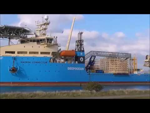 Deep Ocean's Maersk Connector, Cable Layer Ship