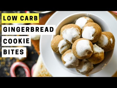 KETO Gingerbread Cookie Bites | How To Make Low Carb Gingerbread Cookie Bites