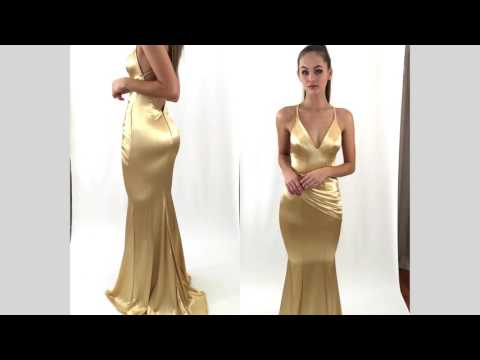GOLD SPELL FORMAL/PROM DRESS BY STUDIO MINC