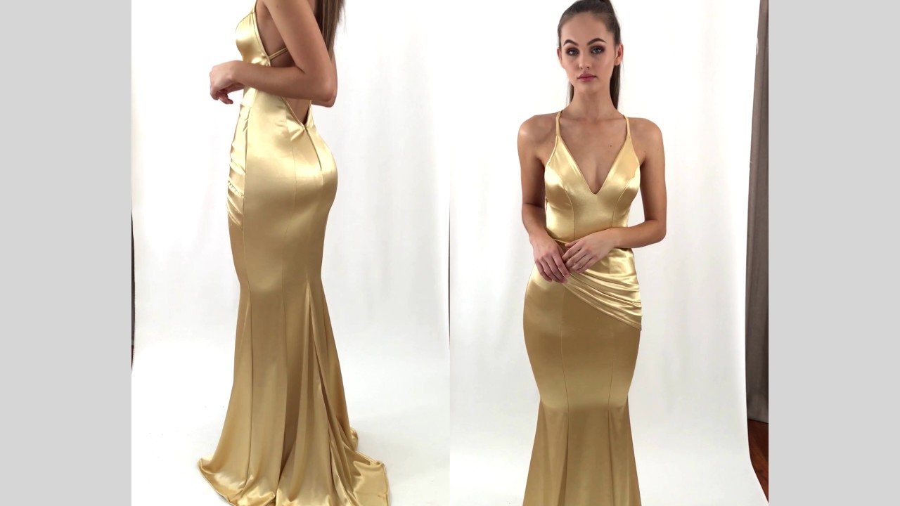 GOLD SPELL FORMAL/PROM DRESS BY STUDIO MINC - YouTube