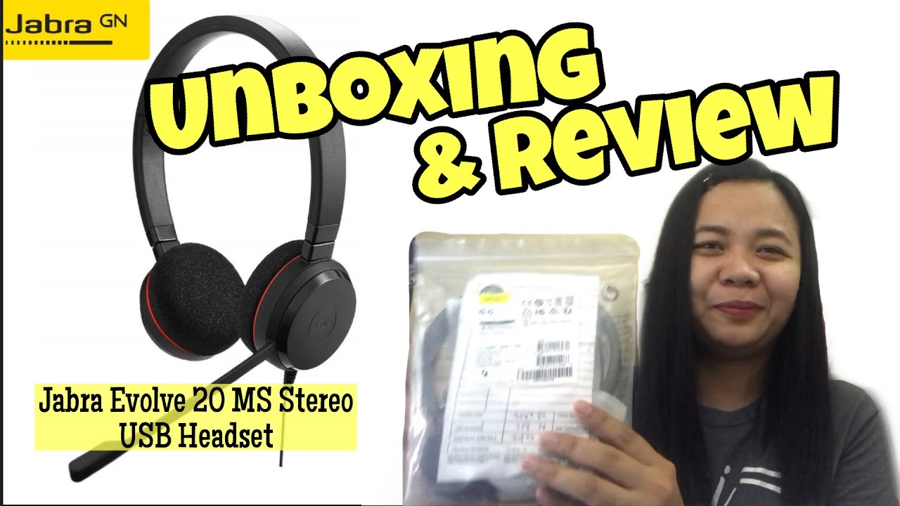 Unboxing Review For Jabra Evolve 20 Ms Stereo Usb Headset Youtube