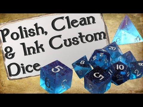 How to Polish, Clean & Ink Custom Dice