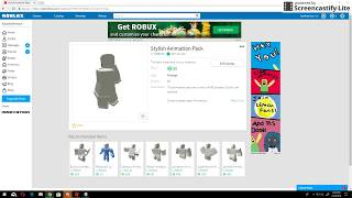 Buying Stylish Animation for the first time! ROBLOX