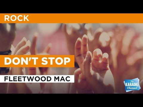 Don't Stop in the style of Fleetwood Mac | Karaoke with Lyrics