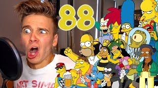 88 SIMPSONS IMPRESSIONS IN ONE SITTING!