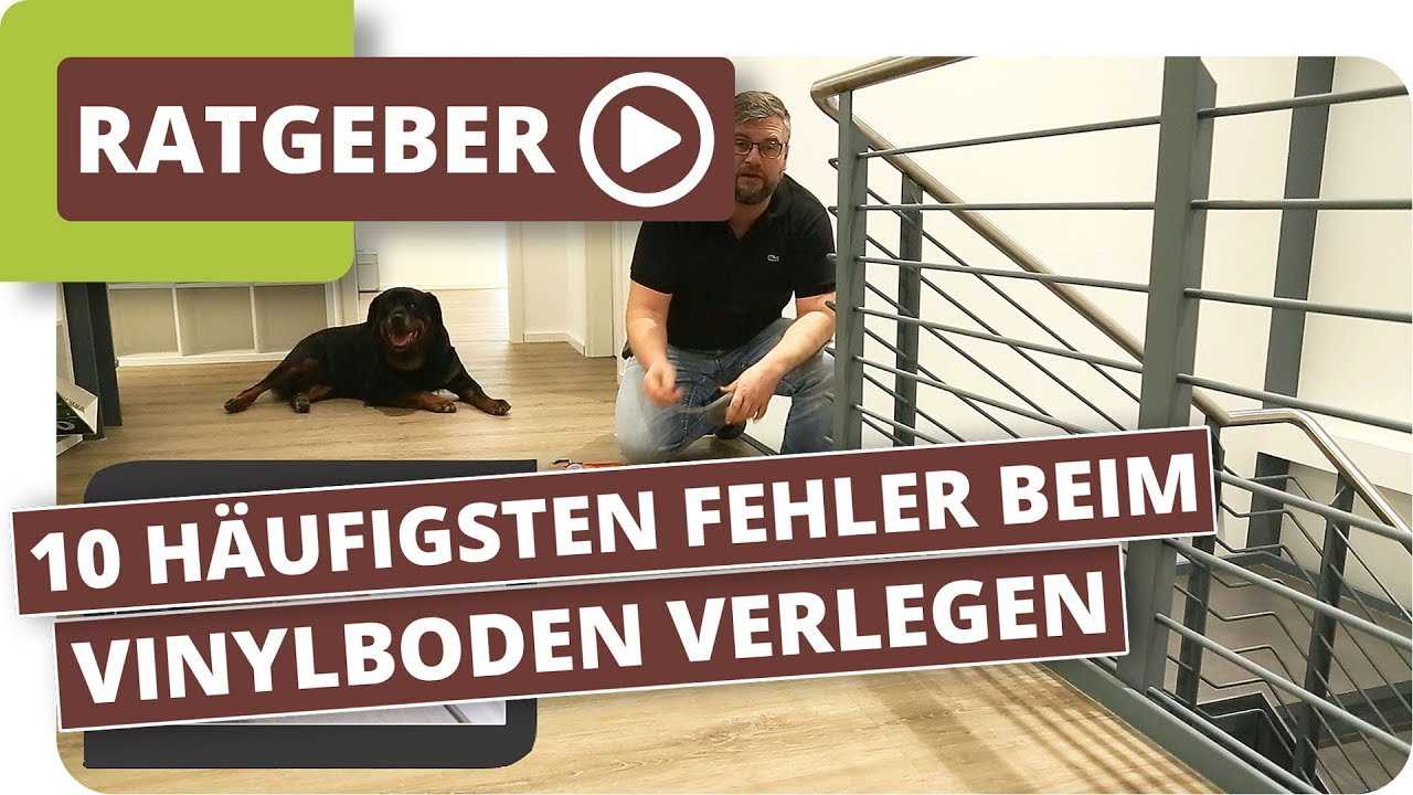 die 10 h ufigsten fehler beim vinylboden verlegen youtube. Black Bedroom Furniture Sets. Home Design Ideas