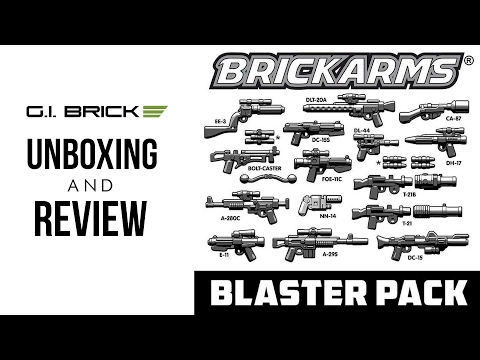 BRICKARMS Star Wars Blaster Pack Unboxing And Review From GIbrick!
