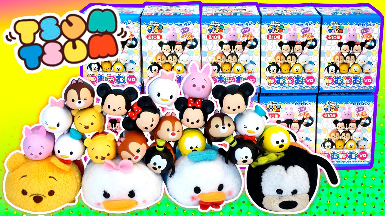 Disney Tsum Tsum Vinyl Mini Figures Blind Boxes Winking