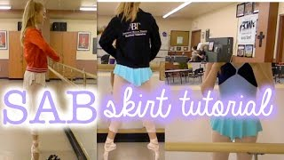 SAB Skirt Tutorial || No Sew Ballet Skirt