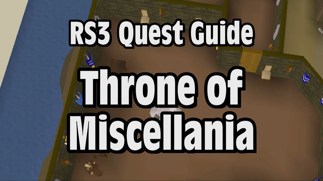 Rs3 Throne Of Miscellania Quest Guide Runescape Youtube