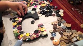 Diy: Wall Art (button Letter Craft)