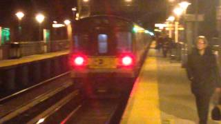 MTA LIRR [RARE] 6-car train of Bombardier M7s leaving Little Neck headed East-bound