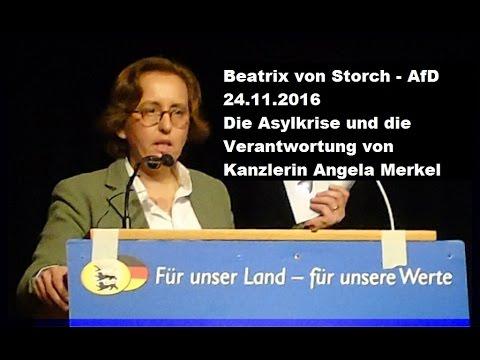 Beatrix v. Storch zu Asylkrise und Merkel