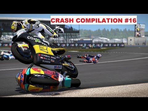 MotoGP 17 | Crash Compilation #16 | PC GAMEPLAY | TV REPLAY Moto2 game |