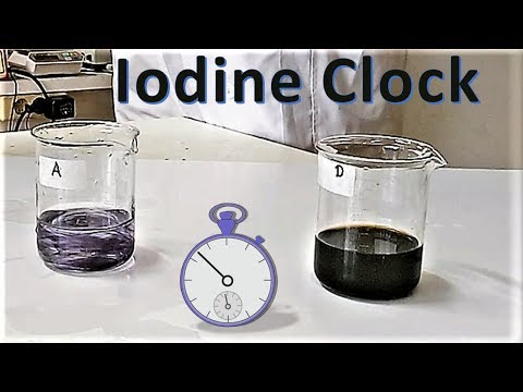 iodide clock How changing potassium iodide concentration affect the rate of iodine clock experiment, a reaction between hydrogen peroxide and potassium iodide please give.
