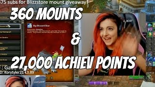 Hitting 27000 Achievement points and 360 mounts in WoW