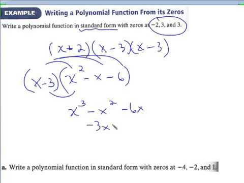 62 Writing Polynomials In Standard And Factored Form Youtube