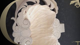 Woodcarving. Fireplace Mantle Onlay