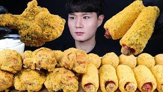 뿌링핫도그 치즈볼 치킨 먹방ASMR MUKBANG SW…