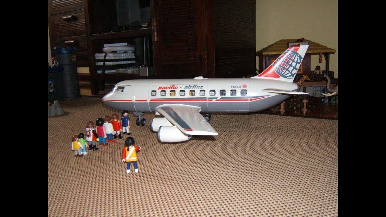 Playmobil vuelo Avion Pacific  fly playmobil plane  YouTube