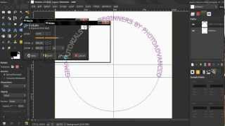 Text Along Circular Path (Aligned) PART 1 - GIMP tutorial