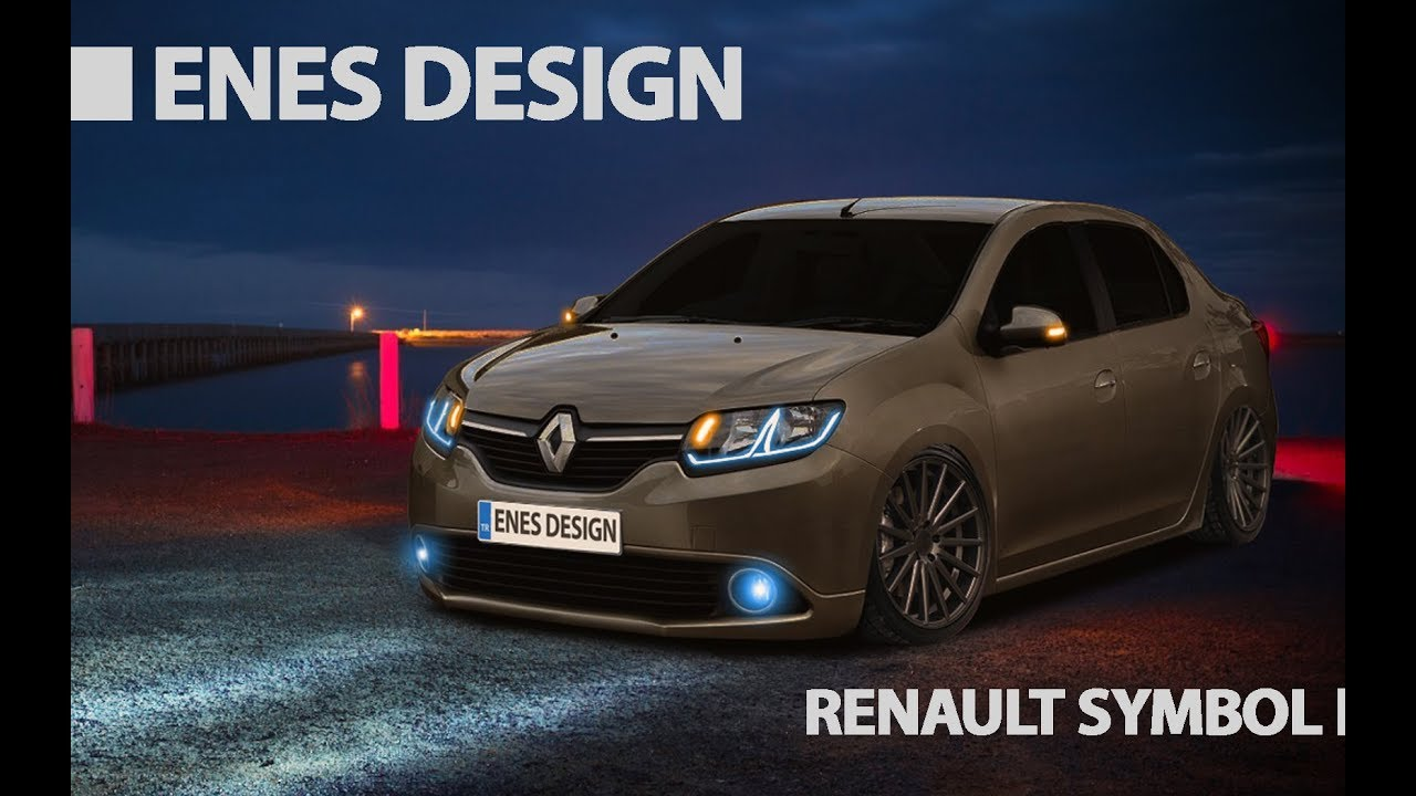 Renault Symbol 2013 Virtual Car Tuning Adobe Photoshop Cs6 Youtube
