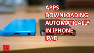 Apps installing automatically in iPhone or iPad