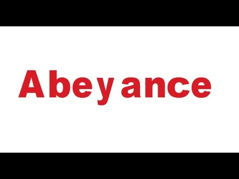 Abeyance-meaning in English and Hindi with usage