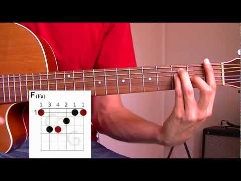 Cours de Guitare : Le Fa (majeur et mineur) et les accords barrés en position de mi