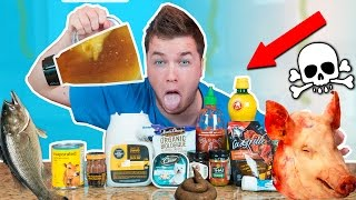 GROSSEST DRINK IN THE WORLD CHALLENGE! Dog Food, Fish & More!  (EXTREMELY DANGEROUS) thumbnail
