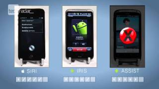 Siri on iPhone 4S vs Android Voice Assistant Apps Iris & SpeakToIt Test