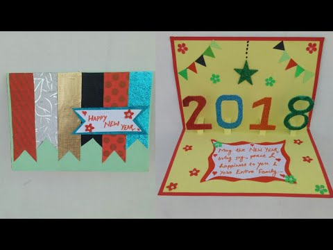 new year card 2018new year pop up cardmaking greeting card for new year celebrationpop up cards