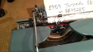 1959 Torpedo 18-B Deluxe typewriter, SUPER SWEET!!