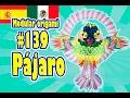3D MODULAR ORIGAMI #139 Pájaro