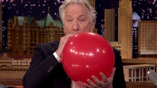 Alan Rickman and Jimmy Fallon Do Helium | What's Trending Now