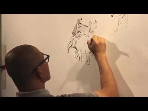 KIM JUNG GI - Live Drawing in Paris