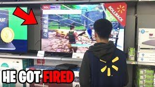 Walmart Employee 1V1s Me While Working... (Fortnite)