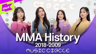 BTS&EXO부터 빅뱅&소녀시대까지 50곡 모아듣기 | MMA History 2018-2009 | K-pop Mashup | MUSIC CIRCLE | 뮤직써클 |