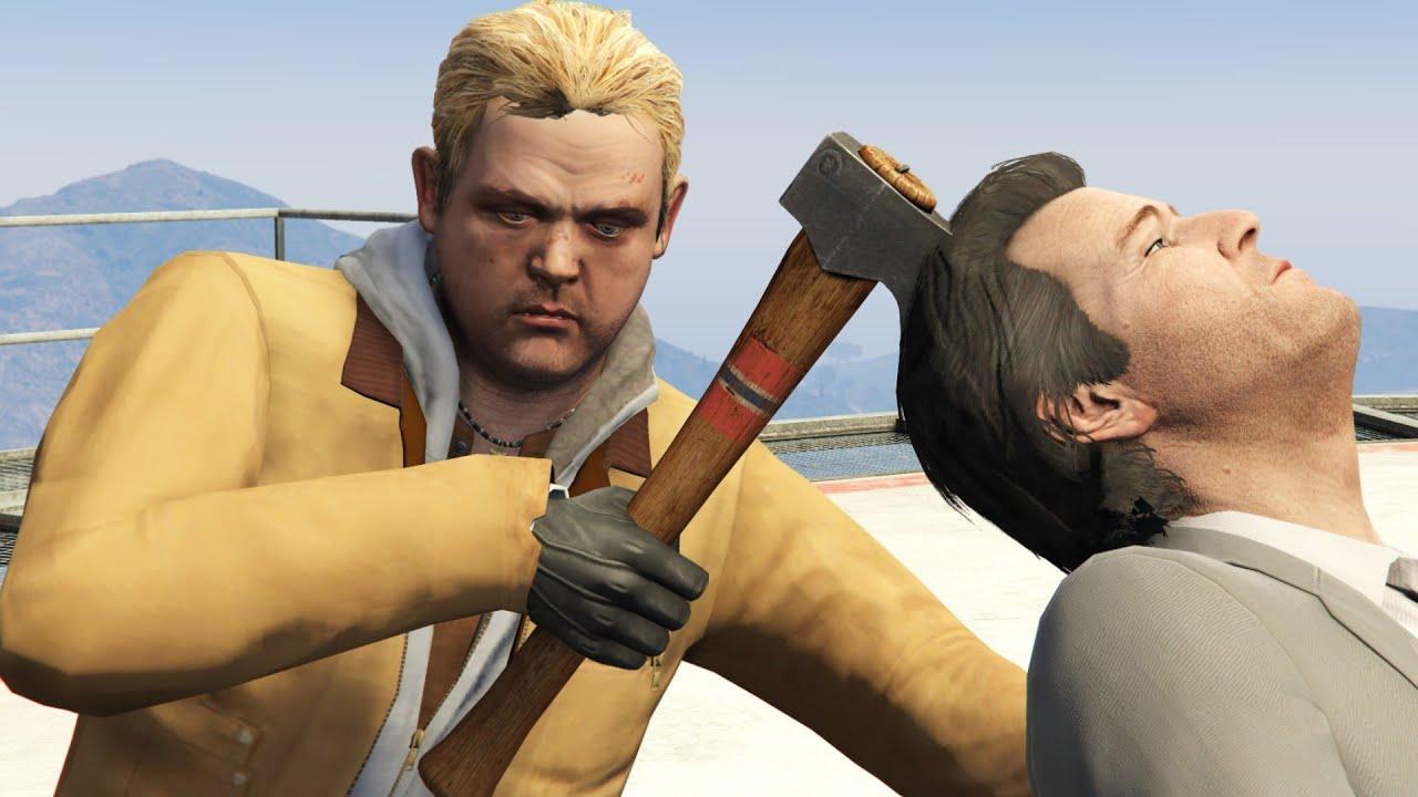 GTA V PC Brad Kills Michael (Editor Rockstar Movie Cinematic Short Film)
