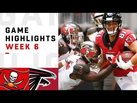 Buccaneers vs. Falcons Week 6 Highlights | NFL 2018