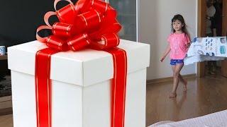 Surpresa de Natal Presente de Papai Noel na Minha Sala
