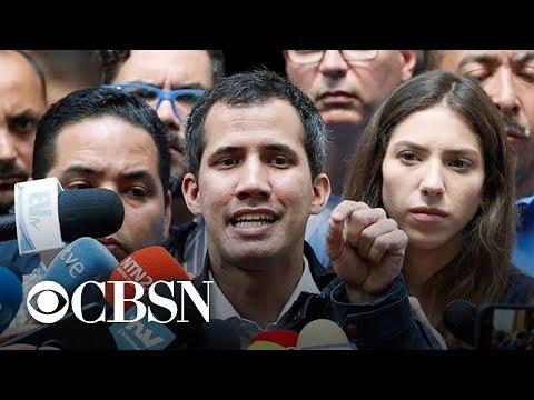 Venezuela's top military representative to U.S. backs opposition leader