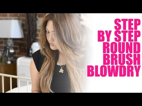 TUTORIAL - Step by Step Round Brush Blow Dry and IBIZA GIVEAWAY (CLOSED)!