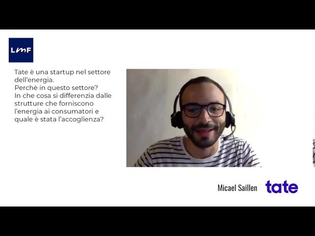 Tate, una startup innovativa nel settore energia - Micael Saillen (Tate)