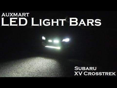 LED Light Bars | AUXMART | Installation and Review | 2013 Subaru XV Crosstrek